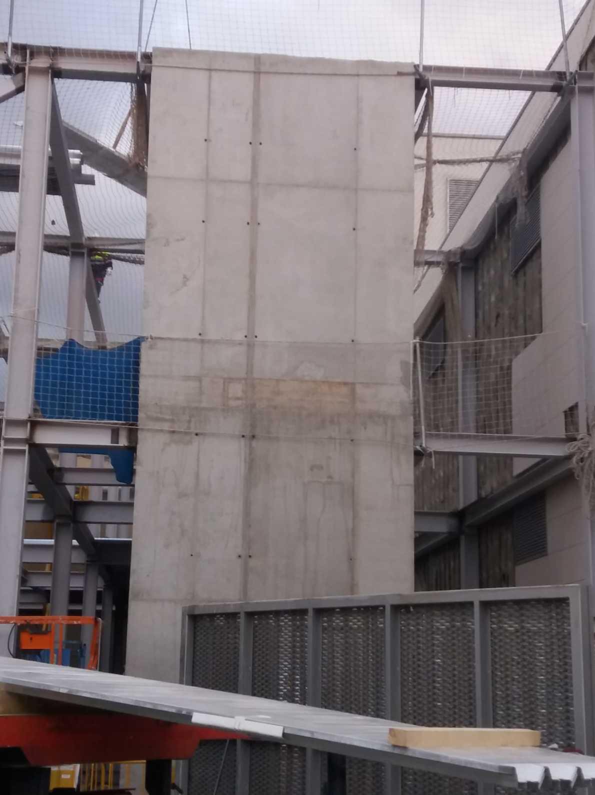 Estructura hormigo ascensor Zaragoza