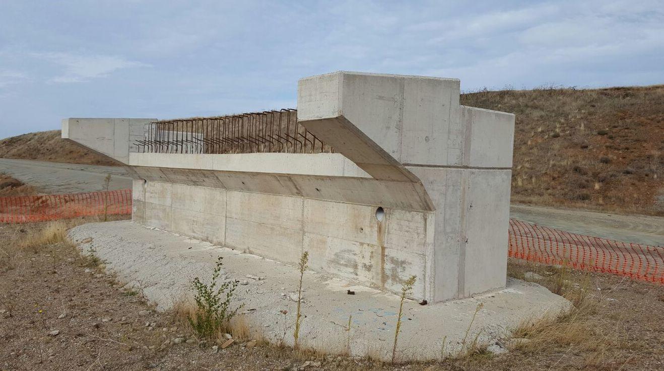 construcción Autovia A21 Puente la Reina de Jaca en Huesca