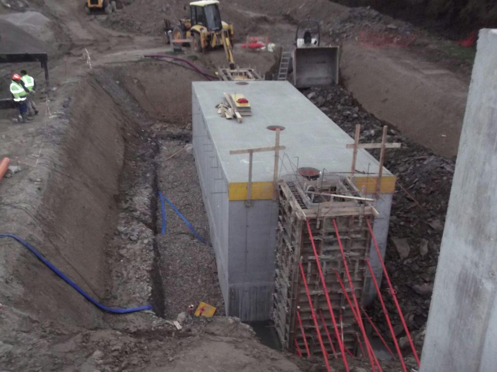 Construcción de la Depuradora Erro en Navarra