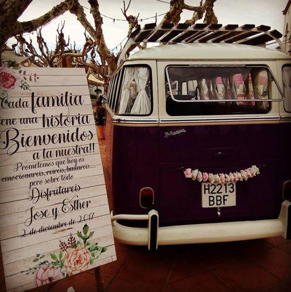 Servicio de Photocall para bodas con la furgo