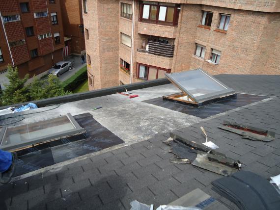reparaciones en cubiertas, colocacion de ventanas