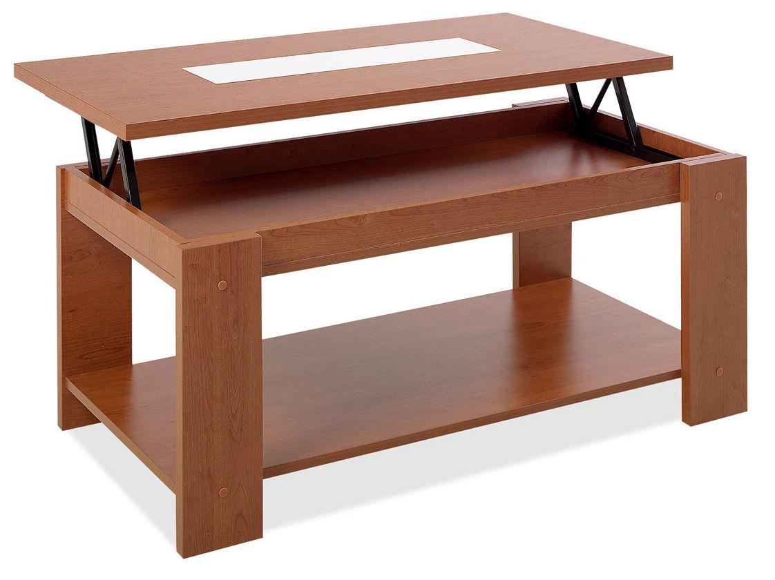 5207 mesa de centro elevable en color cerezo muy barata.