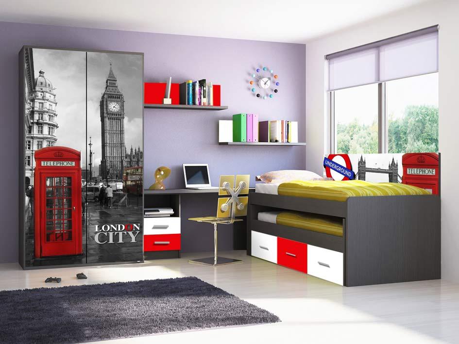 4514 dormitorio juevenil catalogo de muebles san francisco - Muebles san francisco ...