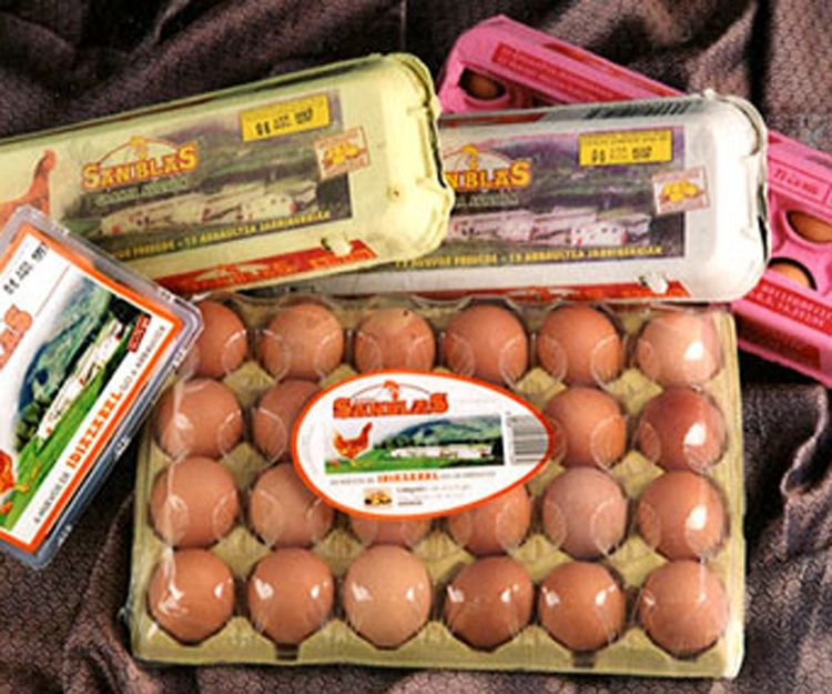 Envases y estuches de huevos
