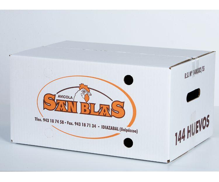 Caja de huevos San Blas