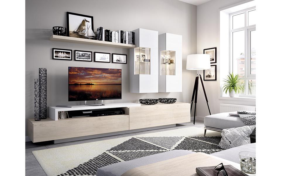Muebles de salón de estilos diversos