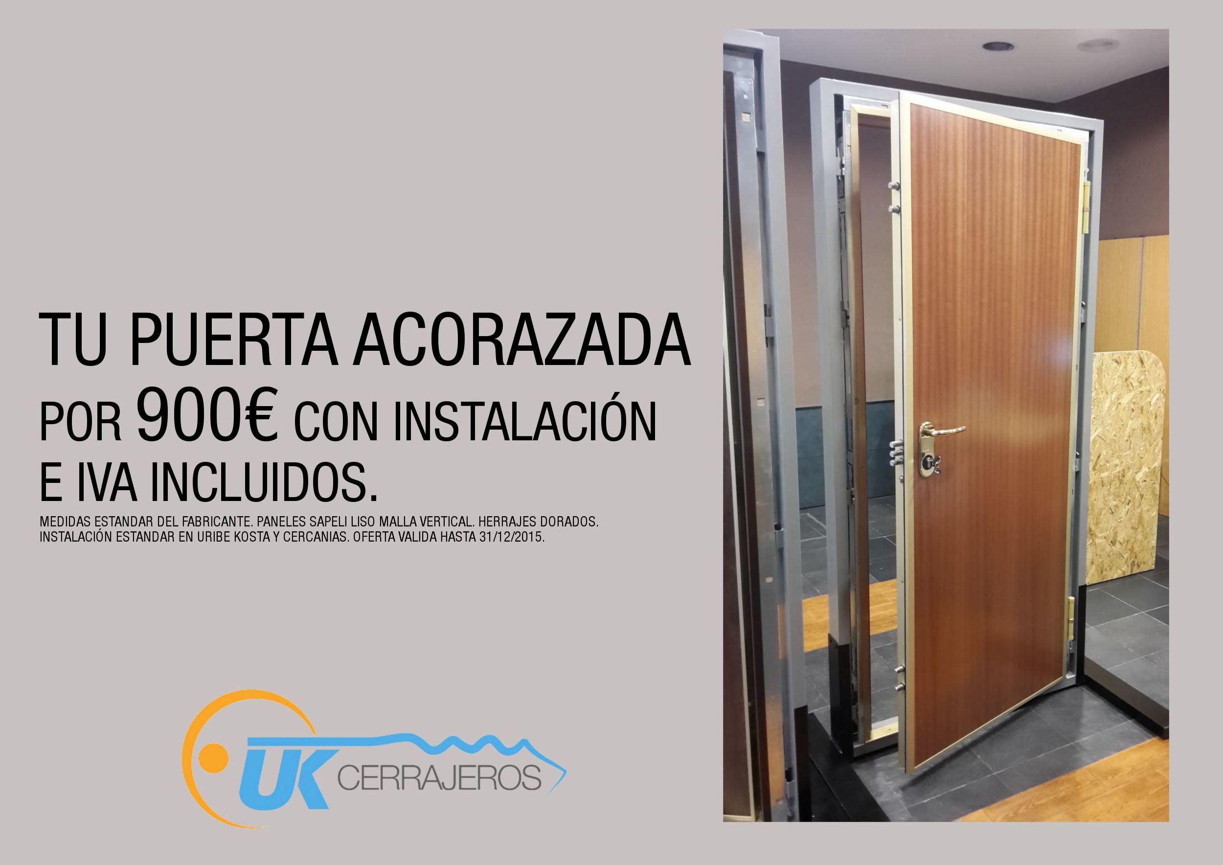 Plan renove puerta acorazada por 900 for Precios de puertas acorazadas