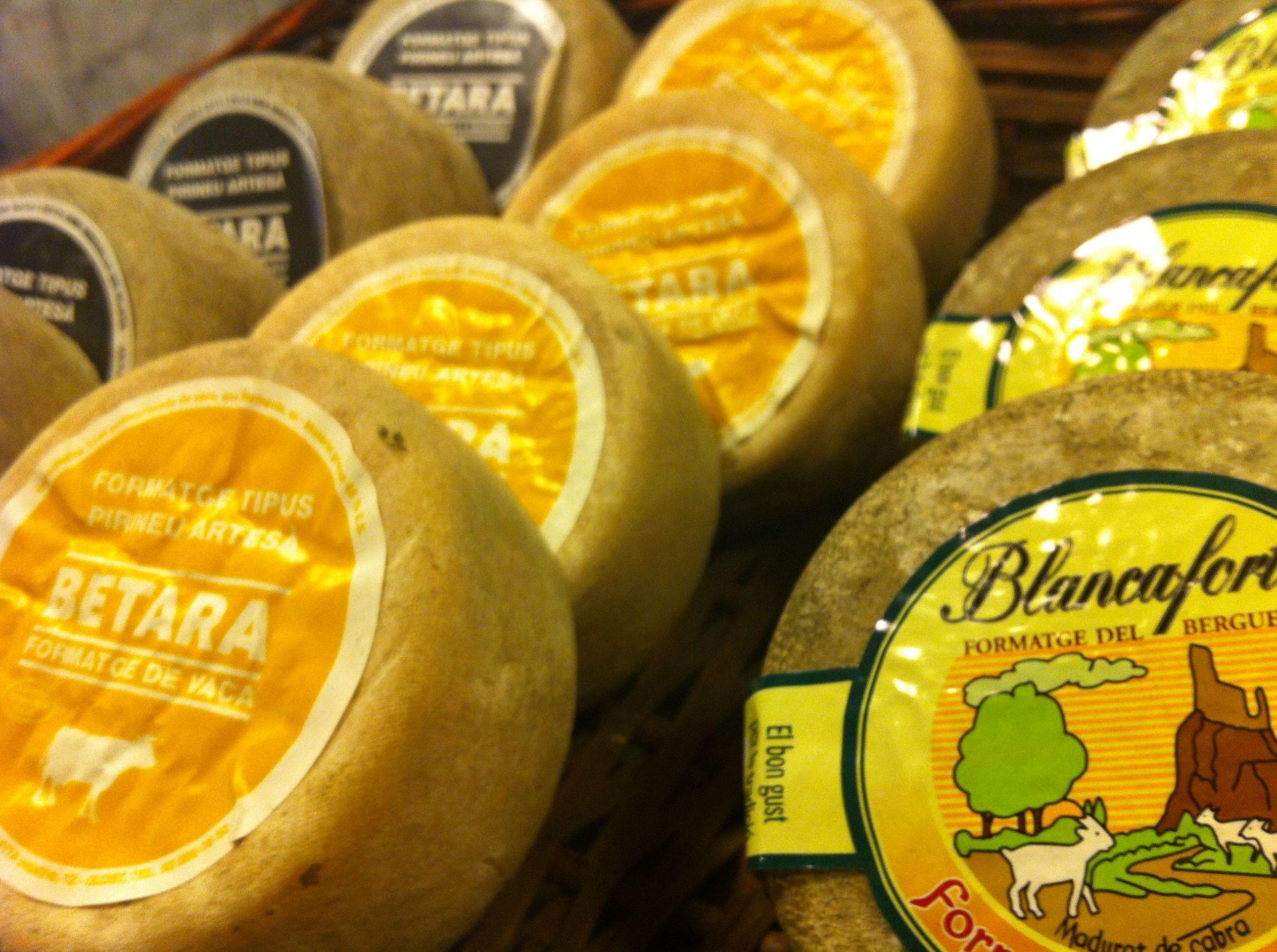 Alguno de nuestros quesos en Barcelona
