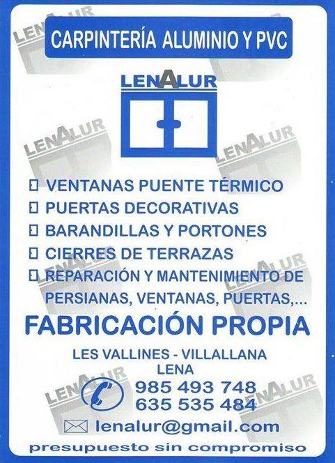 Reparación y mantenimiento : Servicios de Lenalur, C.B.