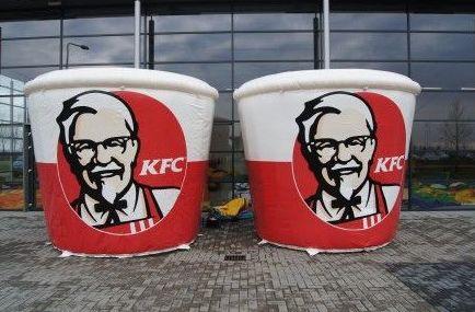 Cubos KFC, personalizados.