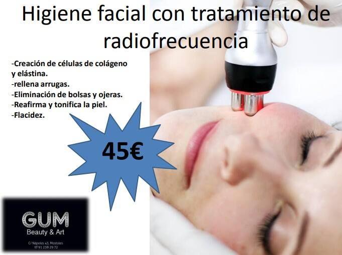 Higiene facial con tratamiento de radiofrecuencia: Productos y tratamientos de Gum Beauty & Art