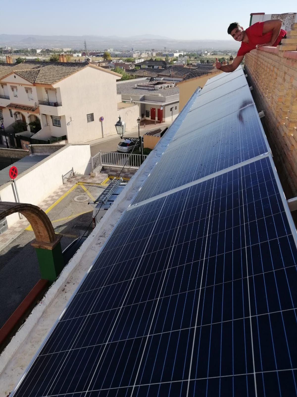 Instalación de placa solar para autoconsumo