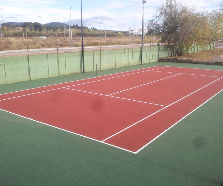 Pintura de canchas de tenis