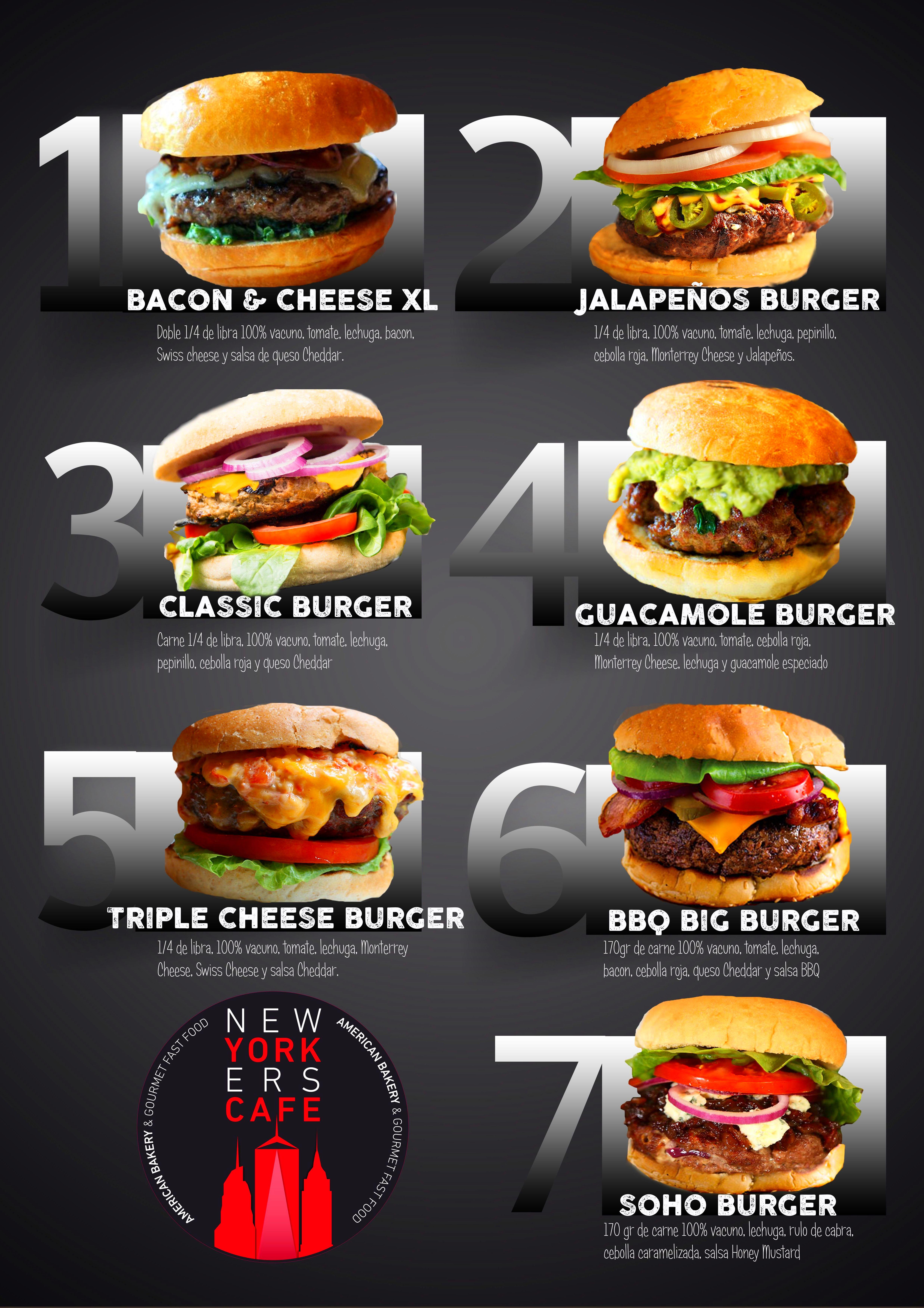 Burgers: Carta de Newyorkers Café