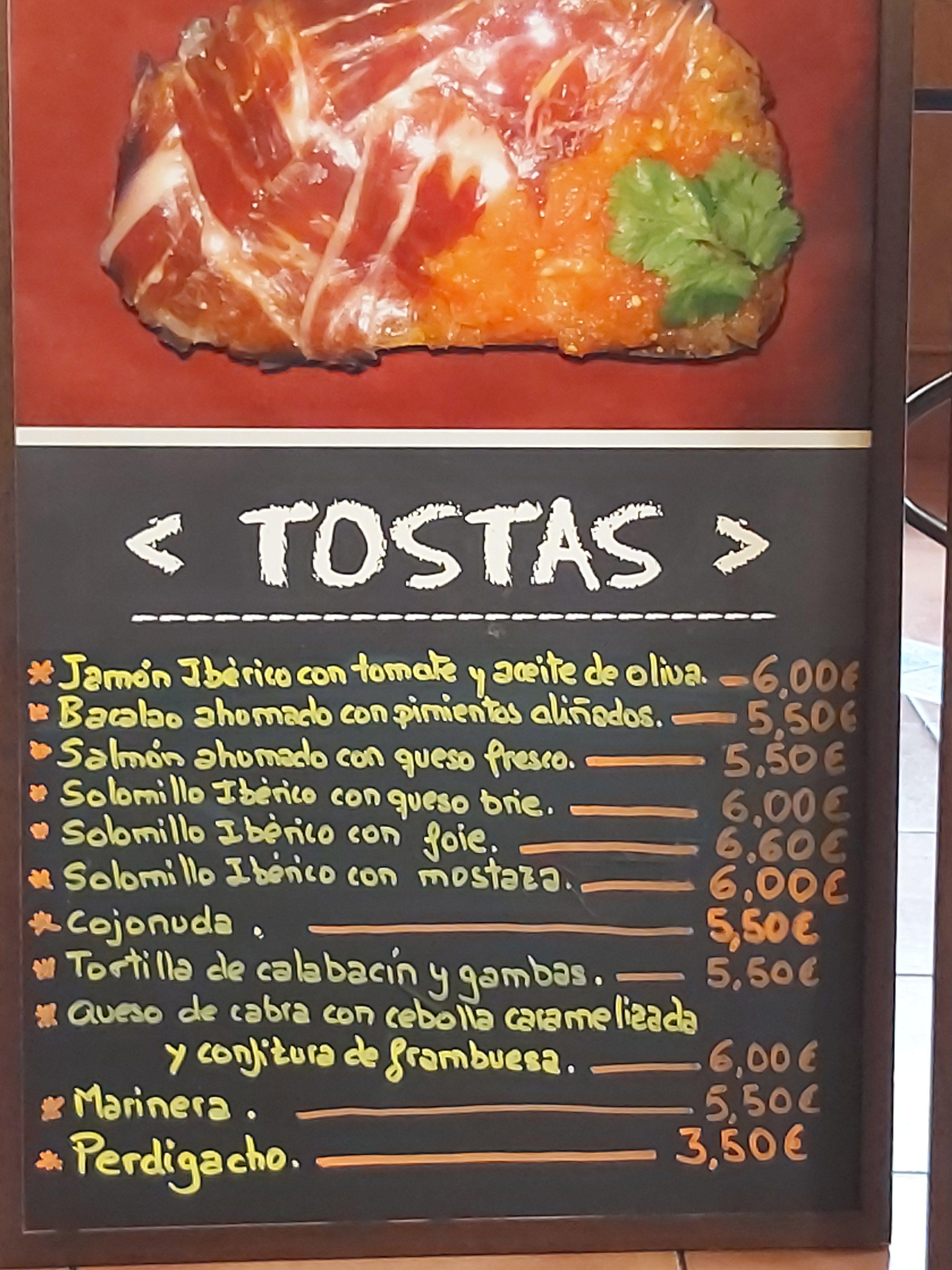 Gran variedad en Tostas en Guadalajara - Restaurante La Manduca