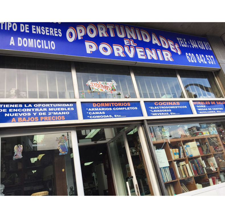 Fachada de Oportunidades El Porvenir en Bilbao