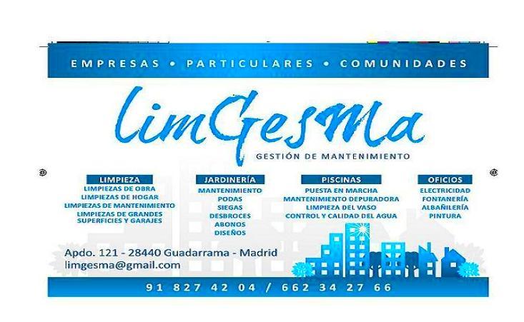 Foto 1 de Limpieza (empresas) en Guadarrama | LIMGESMA