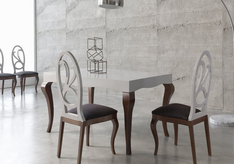 Mesa comedor extensible pata chippendale
