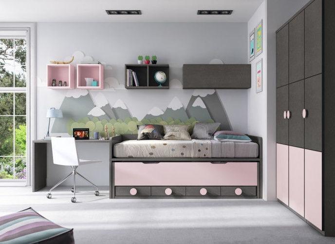 Dormitorio juvenil compacto