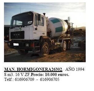 Man Hormigonera 26302 año 1994