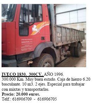 Iveco 1830 300 cv. año 1996