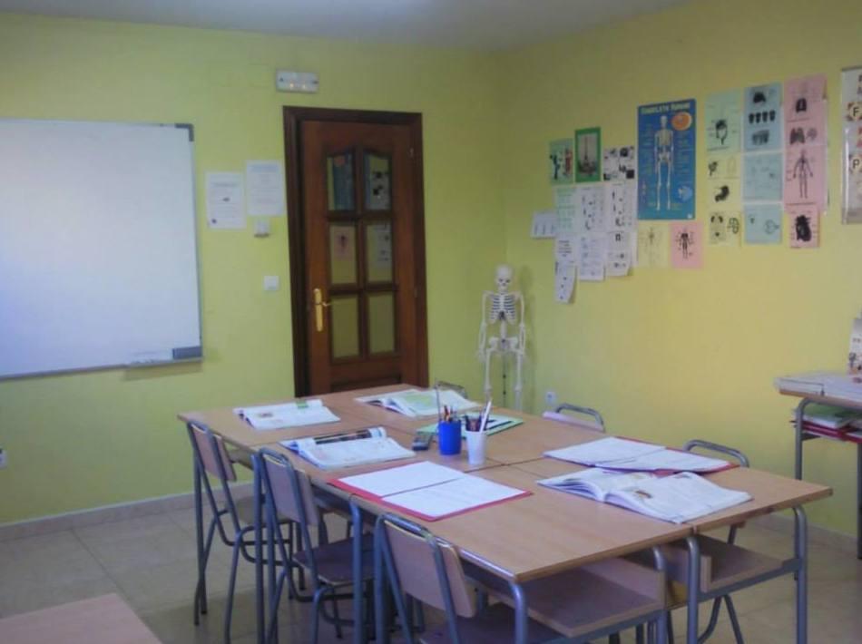Aula para clases de apoyo escolar