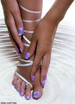 Belleza del pie y manos