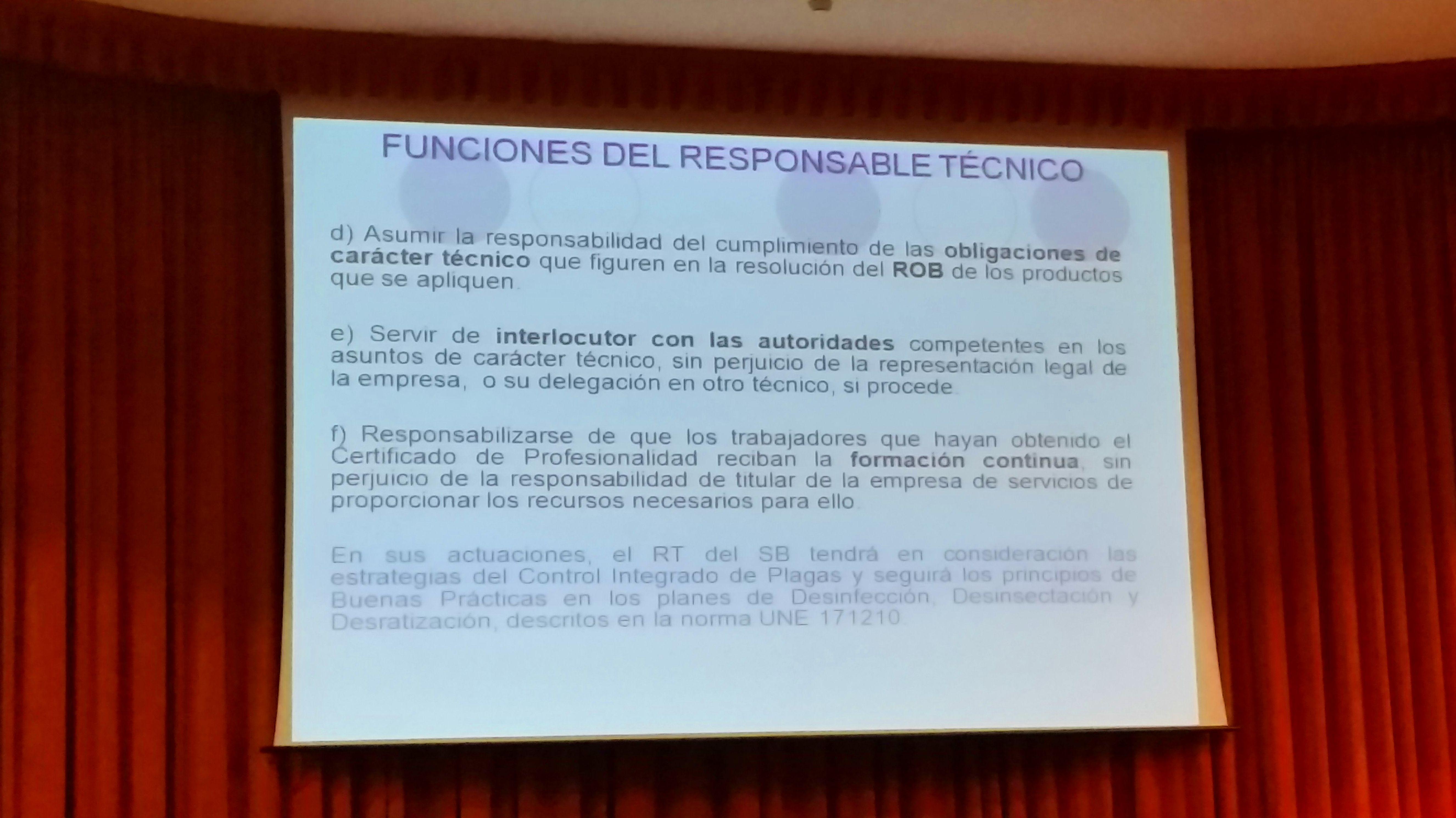 FUNCIONES DEL RESPONSABLE TÉCNICO