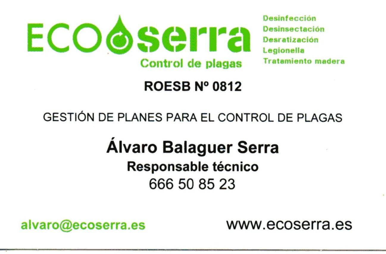 Responsable técnico en control de plagas en Alaquas