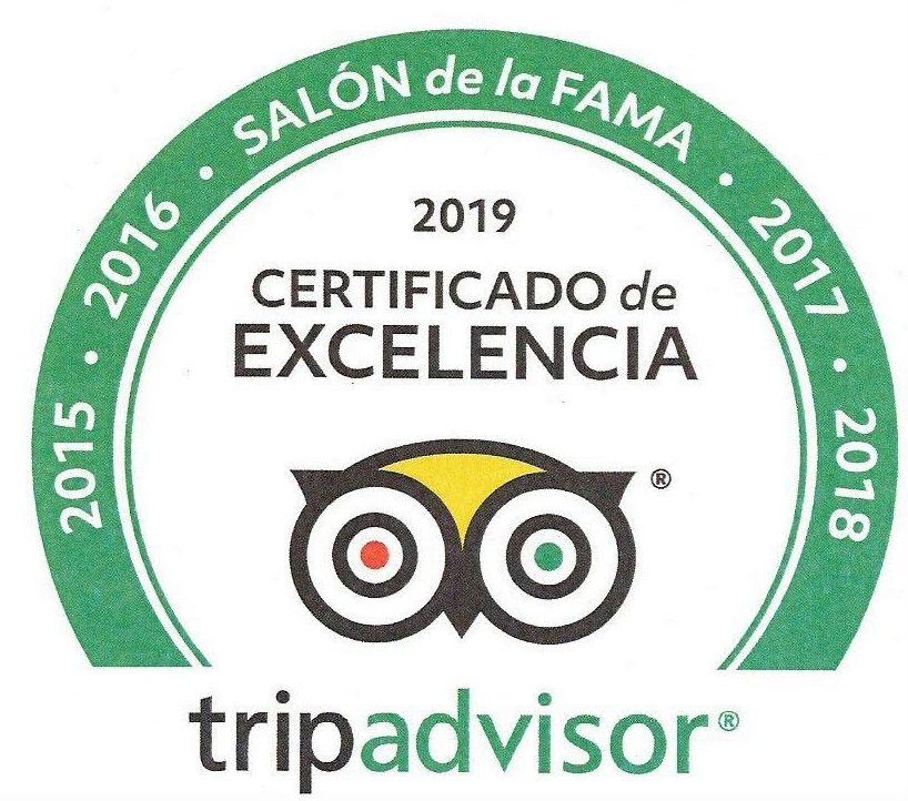 Premio - Certificado de Excelencia Ganador 2015/2019