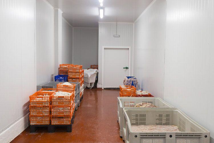 Zona de almacenaje de las tripas