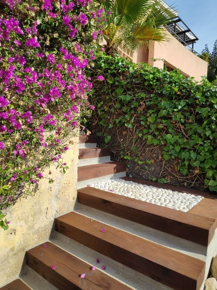 Escalera de jardin