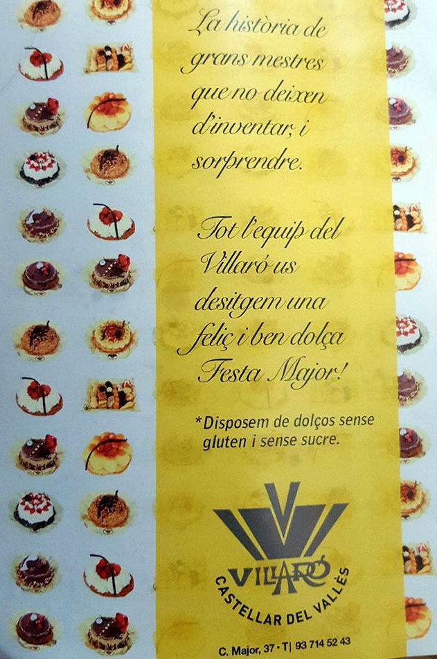 Gran variedad de tartas y dulces típicos artesanos