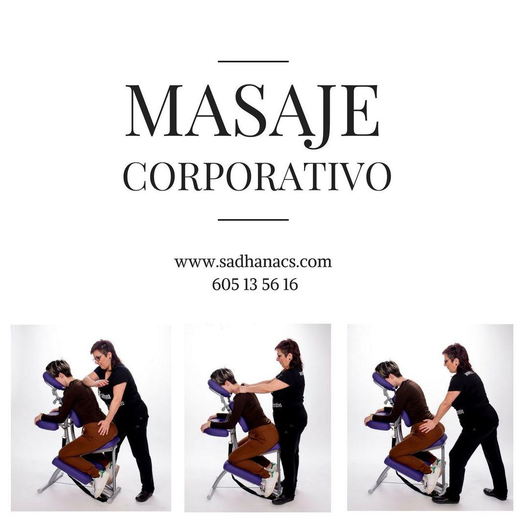 Masaje Corporativo en silla ergonómica