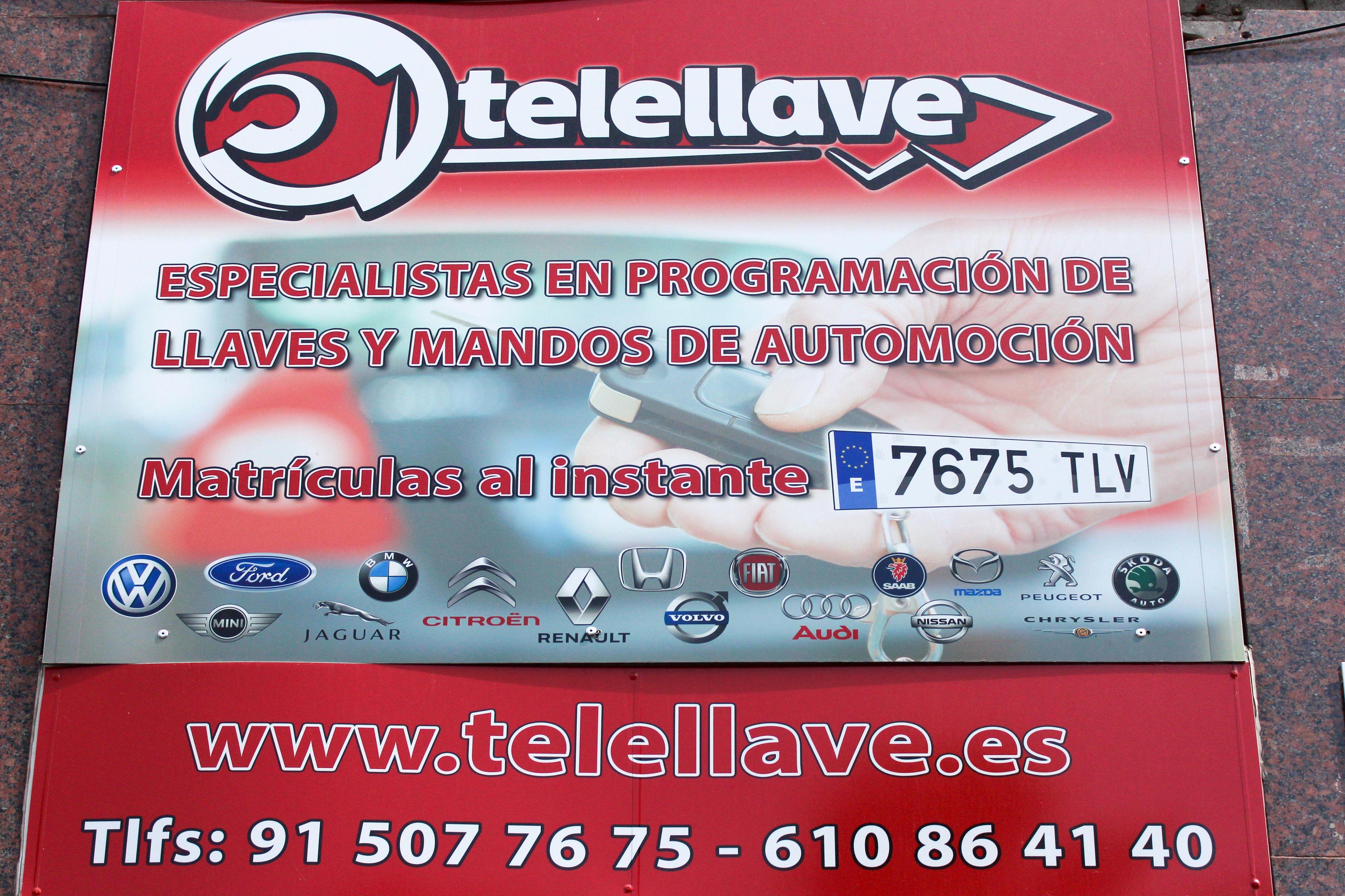 Foto 1 de Cerrajería del automóvil en Madrid | Telellave