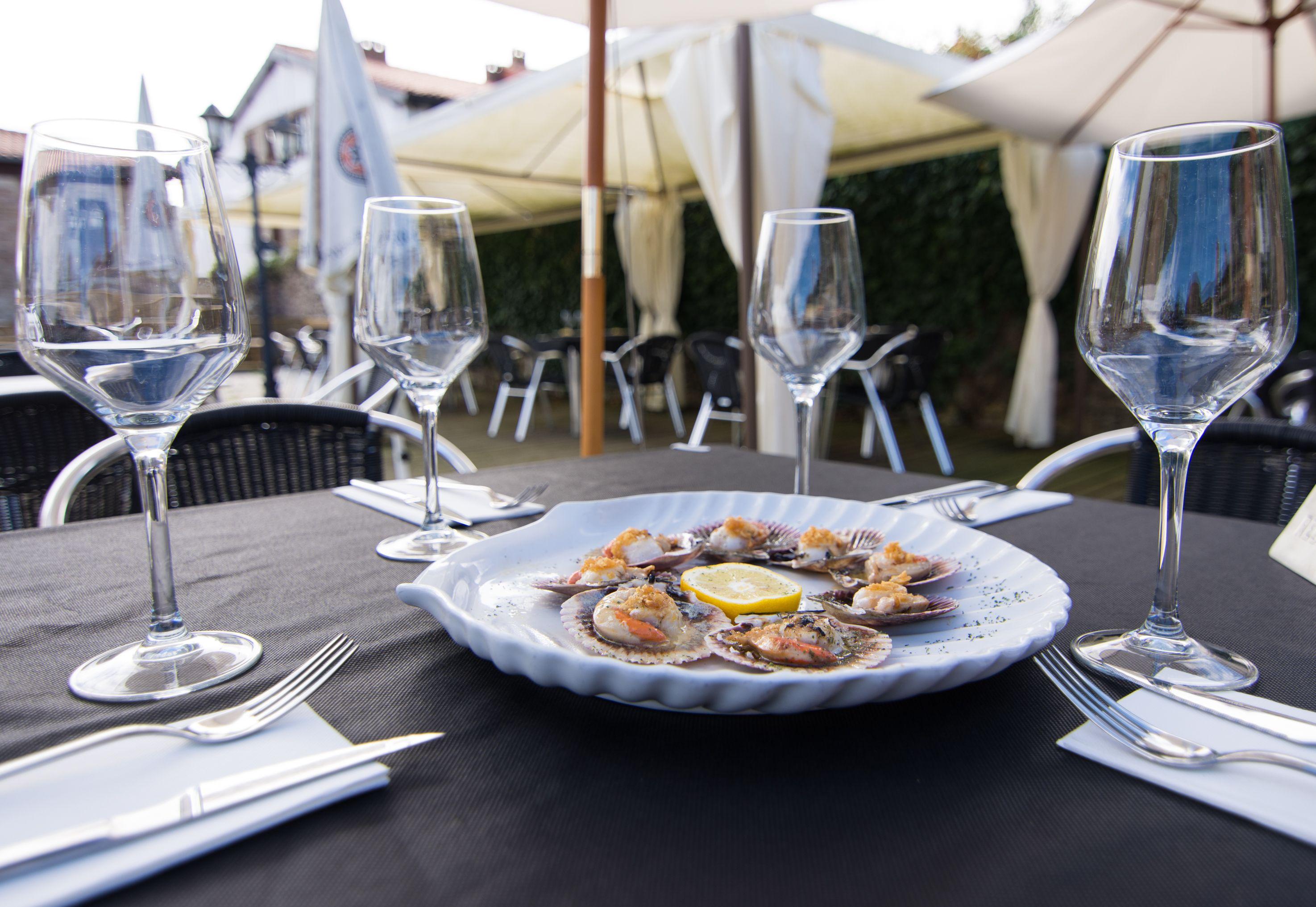 Ración ostras Restaurante El Cantón