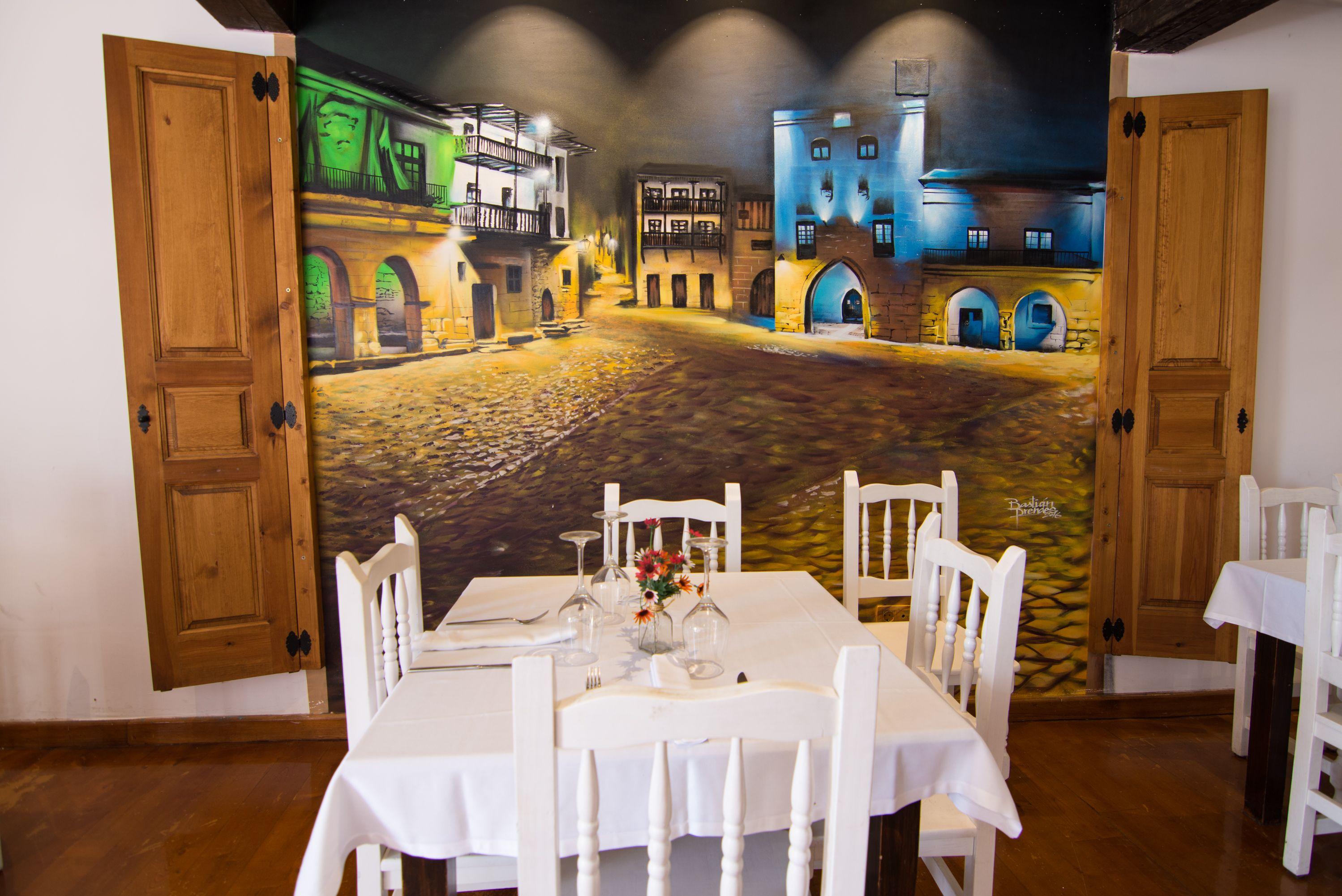 Mesa comedor Restaurante El Cantón
