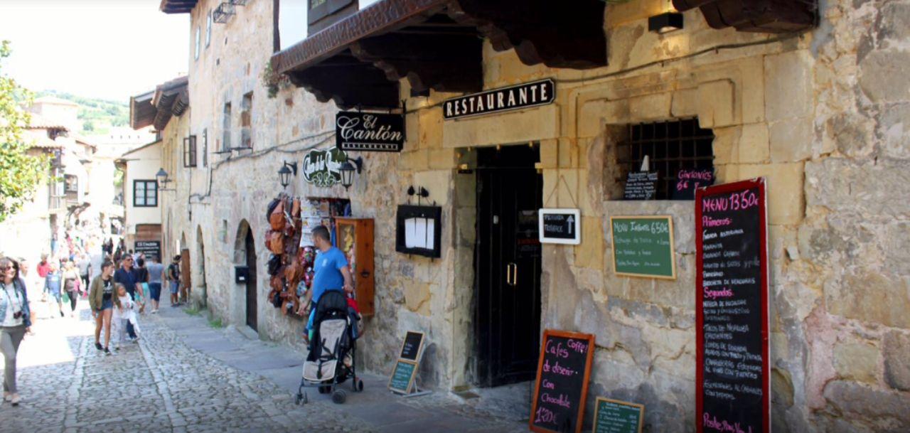 fachada del Restaurante El Cantón
