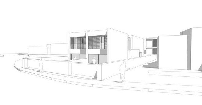 Anteproyecto de dos viviendas pareadas
