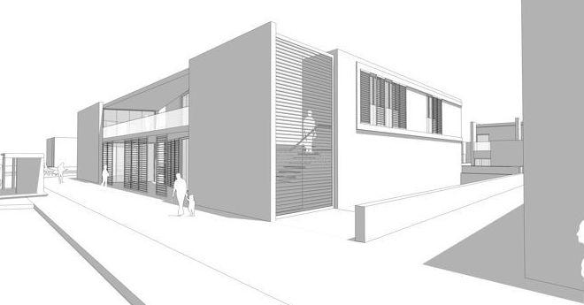 Anteproyecto de edificio comercial y de oficinas