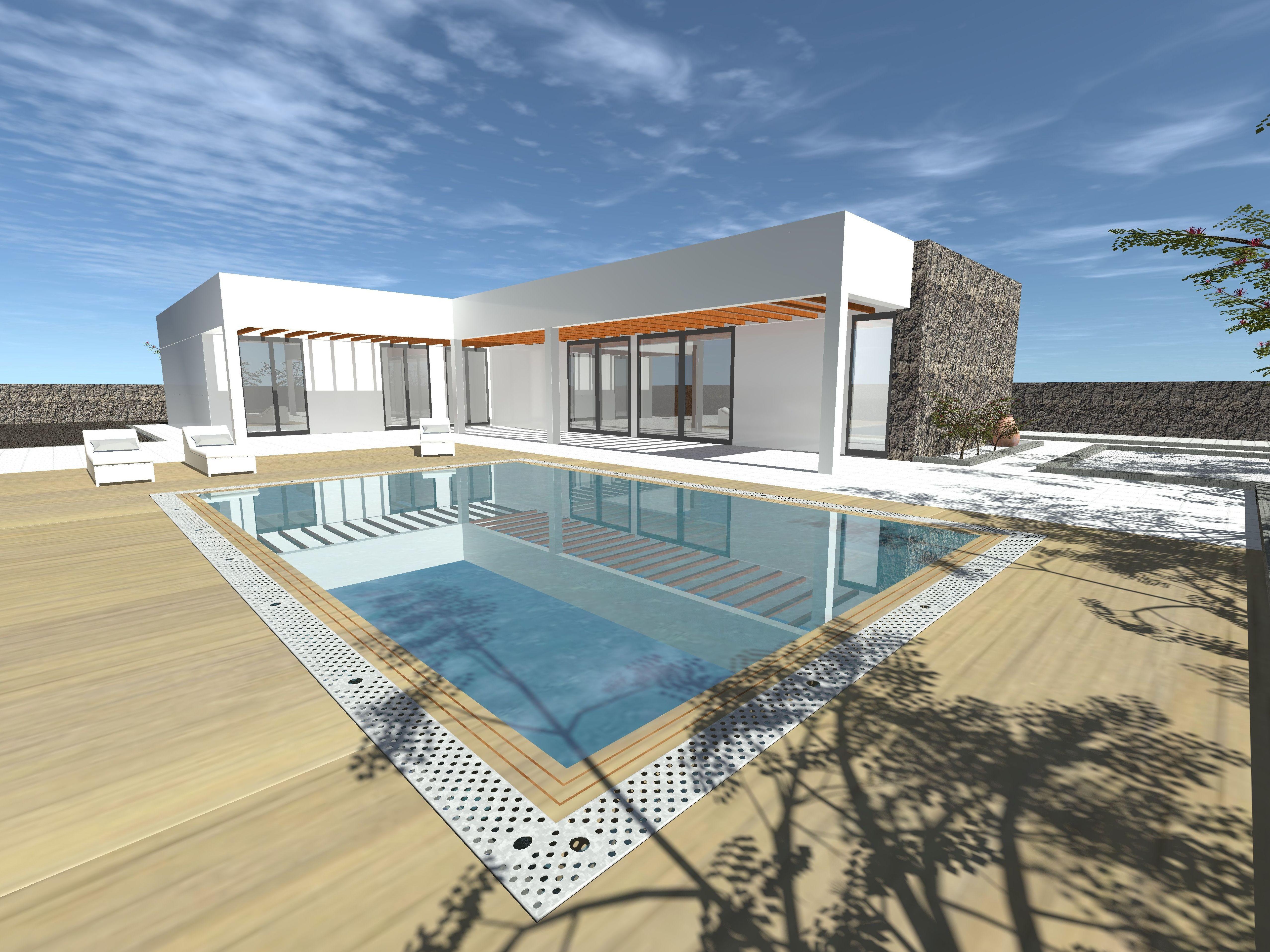 Terraza. Proyecto de vivienda unifamiliar aislada