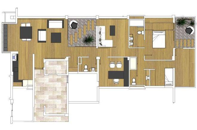 Reforma interior de vivienda en edificio residencial
