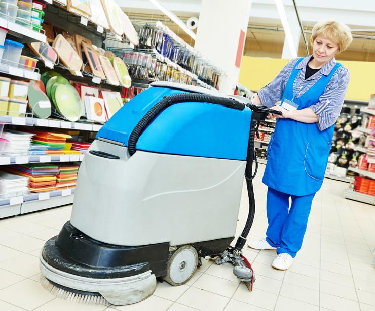 Limpieza y mantenimiento de grandes superficies