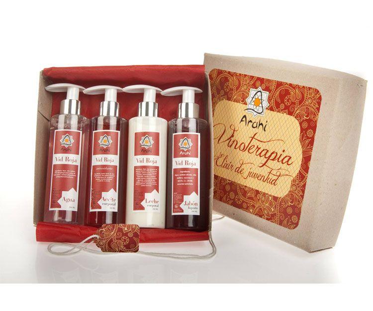 Productos cosméticos del vino