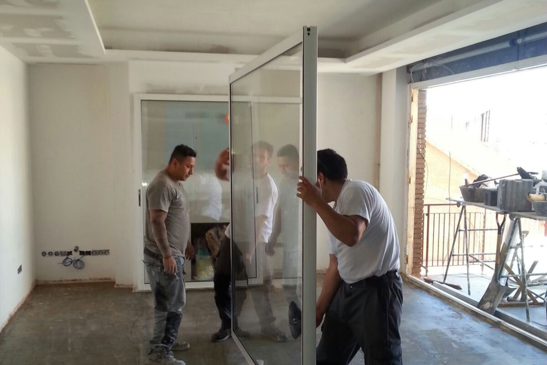 Instalación de carpintería de aluminio