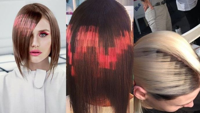 Peinados con efecto pixelado