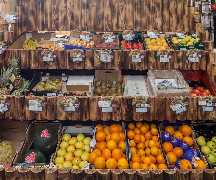 Venta de frutas en Aguilar de Campoo
