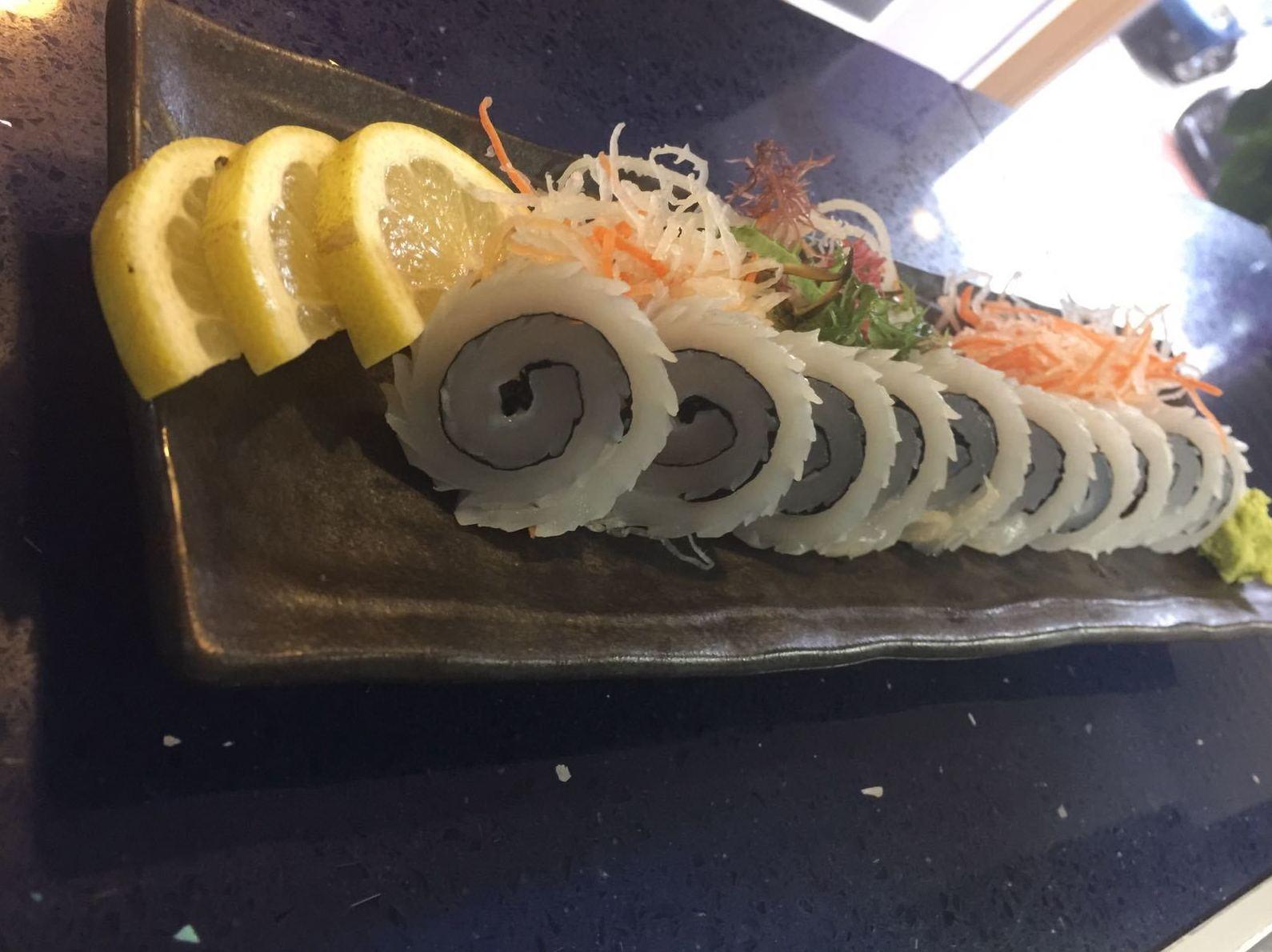 Sashimi de calamar Malaga
