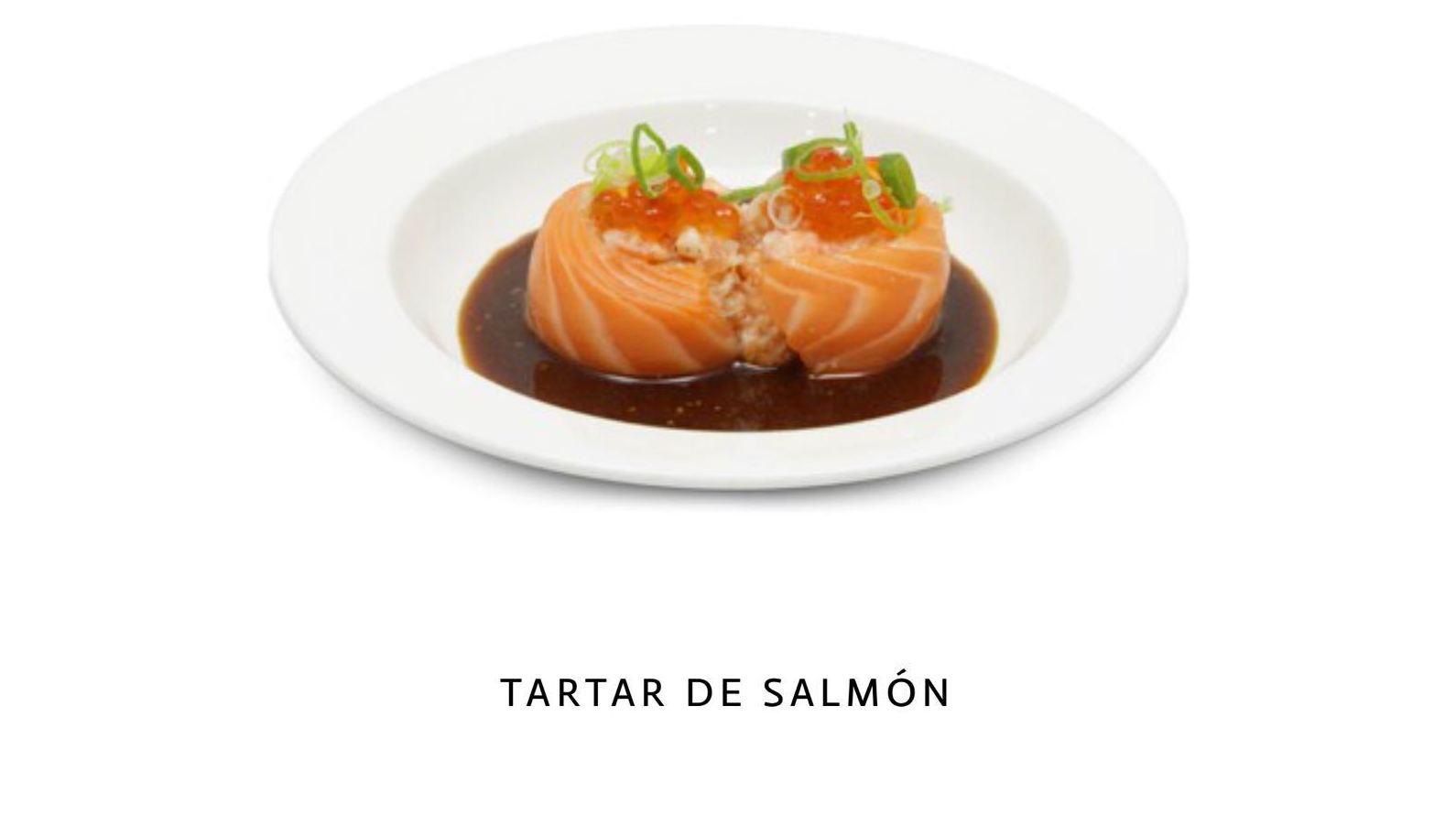Tartar de salmón en malaga