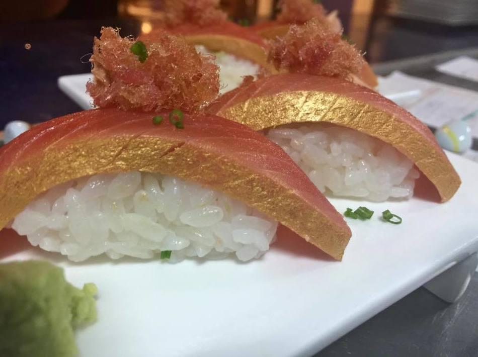 Comida japonesa para degustar